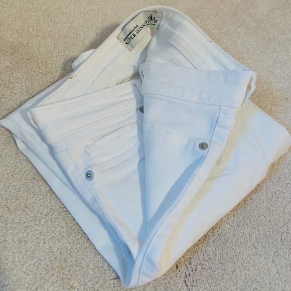 Abercrombie & Fitch Denim - White Abercrombie and Fitch Jeans